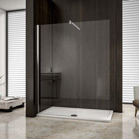 AICA paroi de douche à l'italienne en 8mm verre anticalcaire hauteur:200cm