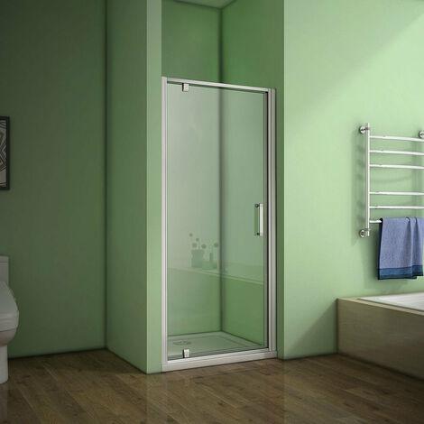 AICA Pivot shower doors Eletro off white