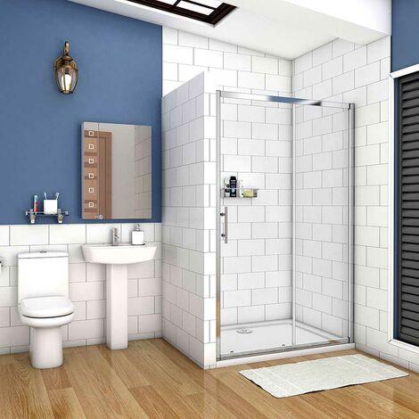 AICA porte de douche 190cm paroi de douche coulissante porte coulissante