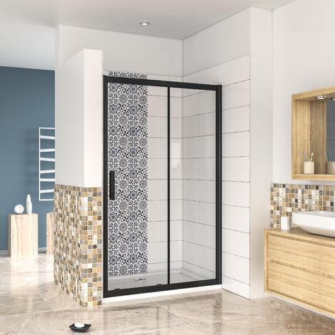 AICA porte de douche avec l'amortisseur porte coulissante120 -160cm en 8mm verre anticalcaire