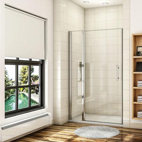 AICA porte de douche pivotante 70-100x187 ou 197cm porte de douche avec 1 élément fixe en 6mm verre anticalcaire