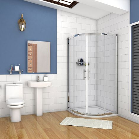 AICA Quadrant Shower Enclosure shower Cubicle Enclosure Sliding Door with shower tray