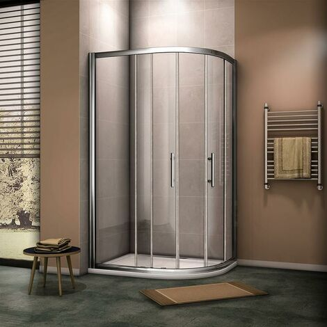 AICA Quadrant Shower Enclosure with shower tray