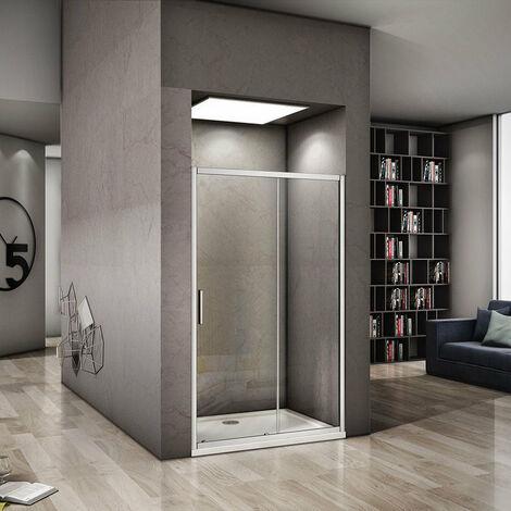 AICA Sliding Shower doors Eletro off white