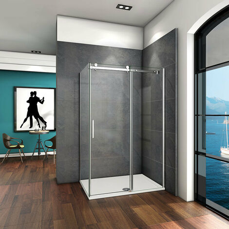 AICA Sliding Shower Enclosure 6mm Safety Glass