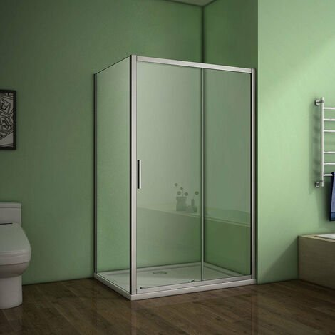 AICA Sliding Shower Enclosure Eletro off white