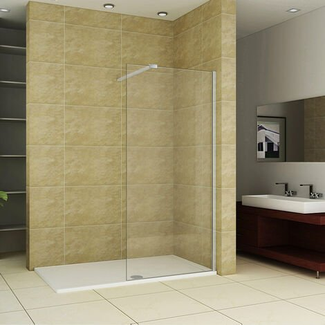 AICA Wet room walk in Shower Enclosure 8mm Easy Clean Glass