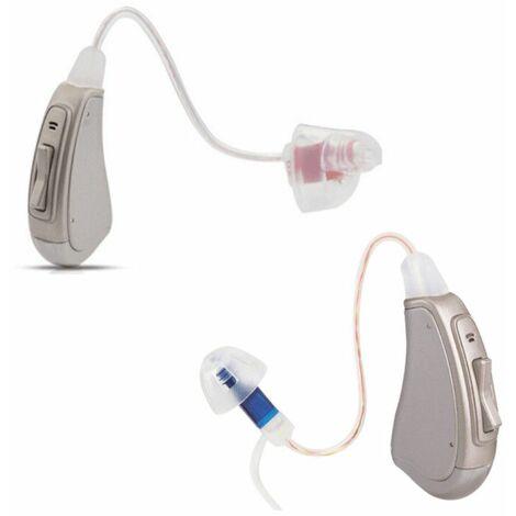 Aides auditives RIC (Amplification +35dB) gauche et droite - Multicolore