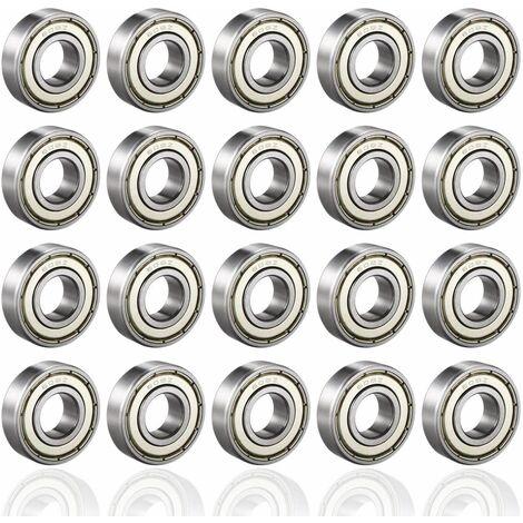 AIDUCHO 608ZZ Roulements à Billes, ABEC 7, 20PCS Speed Bearings Roulements à billes de qualité pour Roller, Skateboard, Longboard, Waveboard, 8 x 22 x 7mm