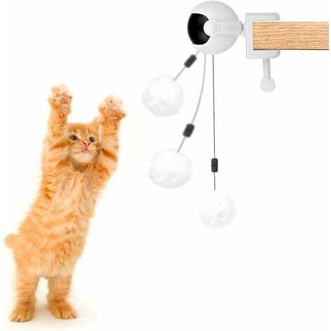AIDUCHO Balle interactive pour chien et chat avec corde et balle en peluche, élévateur électrique automatique pour chat et chien, balle rotative à 360 °