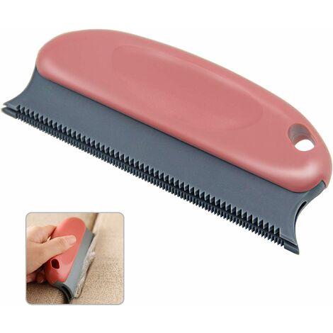 AIDUCHO Brosse pour épiler les poils pour animaux domestiques - Épilateur professionnel - Pour canapé, meubles, tapis, vêtements, couvertures, voiture, lit (rouge)