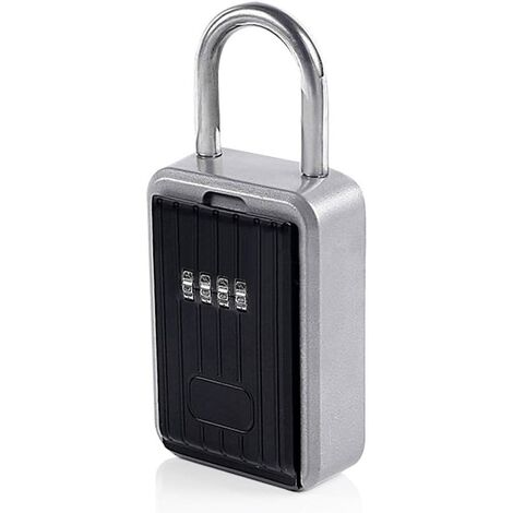AIDUCHO Cadenas cache-clé - Combinaison à 10 chiffres - Pour extérieur, poignée de porte ou clôture