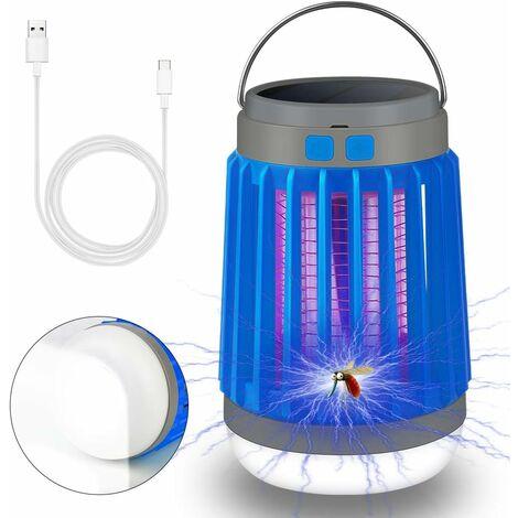 AIDUCHO Eclairage d'extérieur - Moustiquaire Anti-Mouches 3 en 1 Lampe de Camping Anti-moustiques - Bleu - Bleu