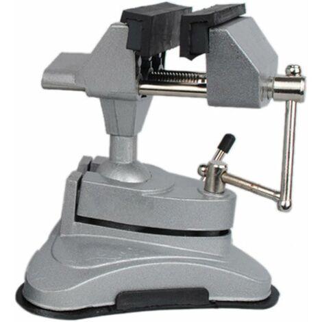 AIDUCHO Étau de table à tête pivotante multi-angle avec base ventouse.