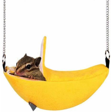 AIDUCHO Hamac pour animal domestique Hamster jouet à suspendre Snuggle Cabane pour écureuil, chinchilla, cochon d'inde, cochon, rat, souris, petite