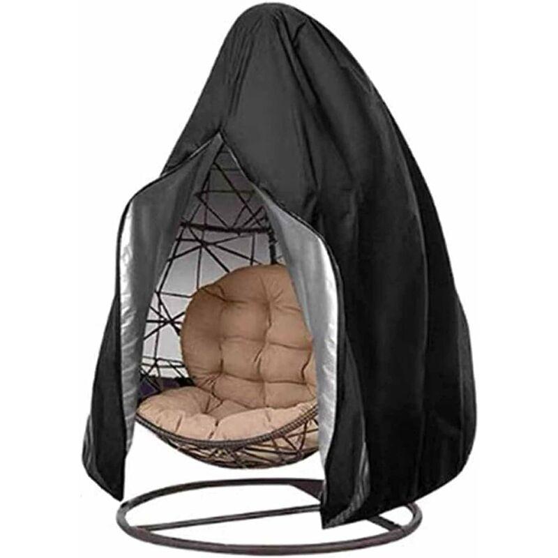 AIDUCHO Housse de Chaise Suspendue en Tissu Oxford 210D, Couverture de Chaise Fauteuil Oeuf avec Fermeture Eclair Imperméable, Coupe-Vent, Anti-UV,
