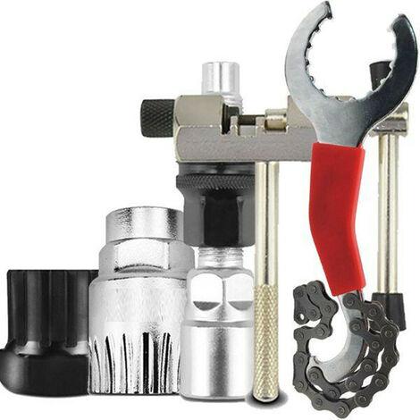 AIDUCHO Kits d'outils de réparation pour vélo de Montagne et vélo, chaîne de vélo, Support, Roue Libre, Outil de détachant de manivelle, Outil de Maintenance pour vélo, Outil séparateur de chaîne