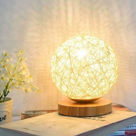 """main image of """"AIDUCHO Lampe de table en bois, lampe de chevet décorative en bois Chargeur USB pour chambre, salon, table de chevet, table de bout, salle de café, chambre bébé (Or)"""""""