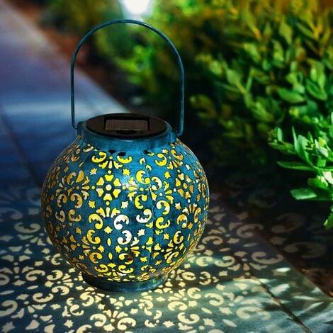 AIDUCHO Lanterne portative - Lanterne solaire solaire décorative pour jardin étanche avec lampe solaire suspendue pour décoration de jardin - 1