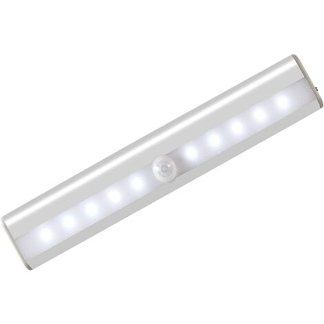 AIDUCHO Lumière Armoire avec Détecteur, Lampe Détecteur de Mouvement, Veilleuse 10 LED avec Bande Magnétique, Alimenté par USB(Sans Fil), Lumière Automatique d'Armoire Placard Cabinet