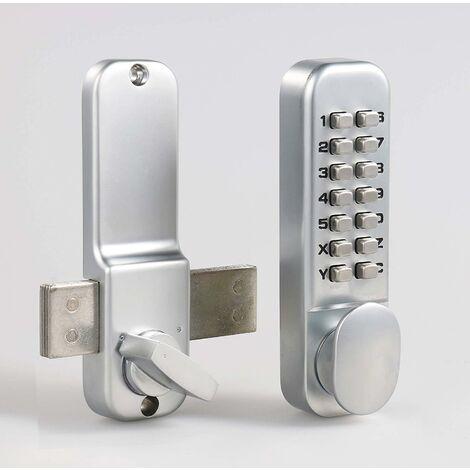 AIDUCHO Serrure de Porte Ditial avec Clavier à Code D'accès Mécanique OS25A