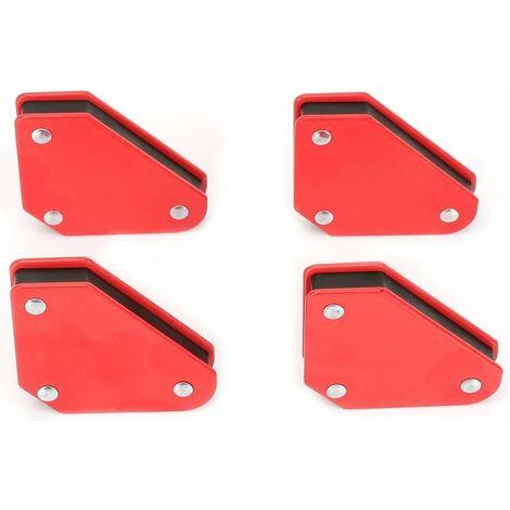 AIDUCHO Support magnétique de soudage Positionneur de soudage triangulaire Outil à angle fixe magnétique 4pcs 5LB Localisateur de soudure d'angle Aimant magnétique Flèches d'angle pour soudeur Outil de suppor