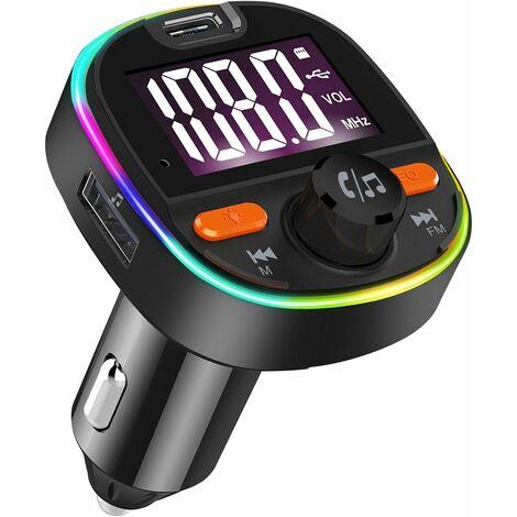 AIDUCHO Transmetteur FM voiture Bluetooth adaptateur autoradio kit mains libres voiture avec PD3.0