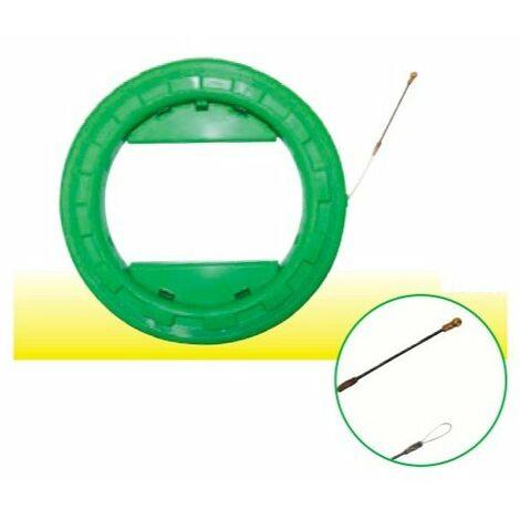 Aiguille en perlon sous carter et embouts flexibles à roue de glissement de 25 m - Ø 4 mm