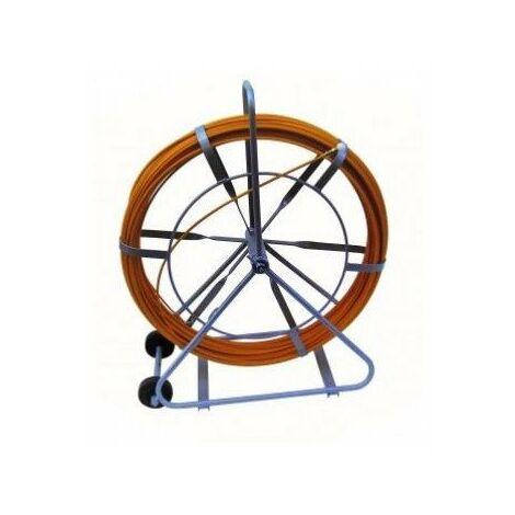 Aiguille fibre de verre - Ø11mm - 200m - Dévidoir avec roulettes