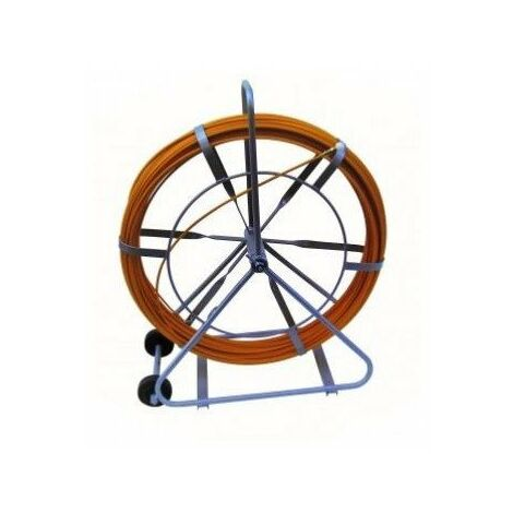 Aiguille fibre de verre - Ø9mm - 150m - Dévidoir avec roulettes