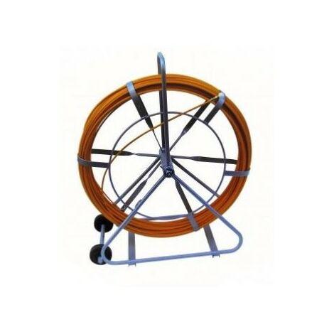 Aiguille fibre de verre - Ø9mm - 200m - Dévidoir avec roulettes