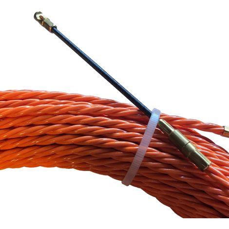Aiguille torsadée en polyester Ø 4,2 mm L 25 M sur petit dévidoir sans roulettes