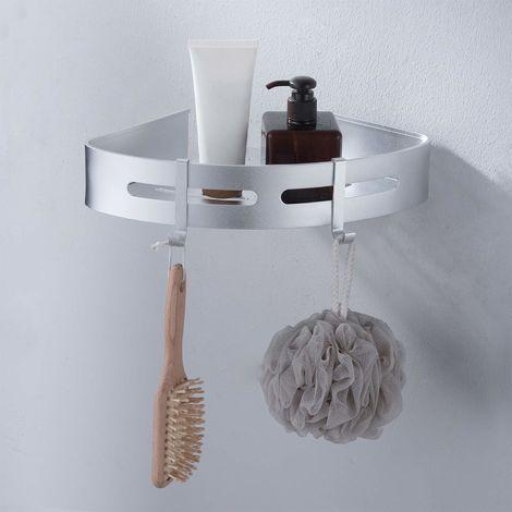 Portasapone Doccia Senza Forare.Aihom Mensola Angolare Per Doccia Senza Fori Per Shampoo