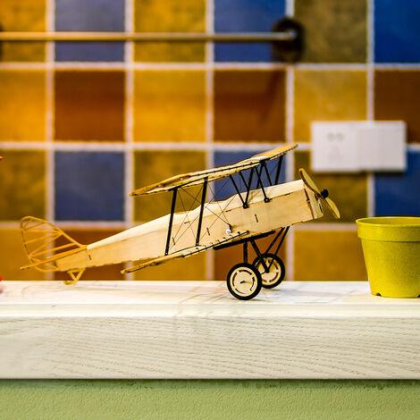 Ailes De Danse Hobby Vx10 1/18 De Havilland Tiger Moth 400Mm Envergure Modele Avion Statique En Bois Artisanat Bois Ameublement Cadeau