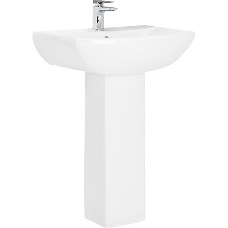 Ailsa 600mm Basin with 1 Tap Hole and Full Pedestal
