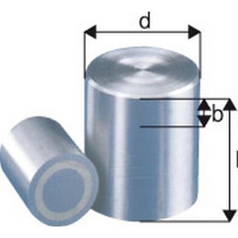 Aimant cylindrique, Ø d : 25 mm, Hauteur l 30 mm, Réduction max. b 5 mm, Force de maintien : 80 N, Poids : 106 g