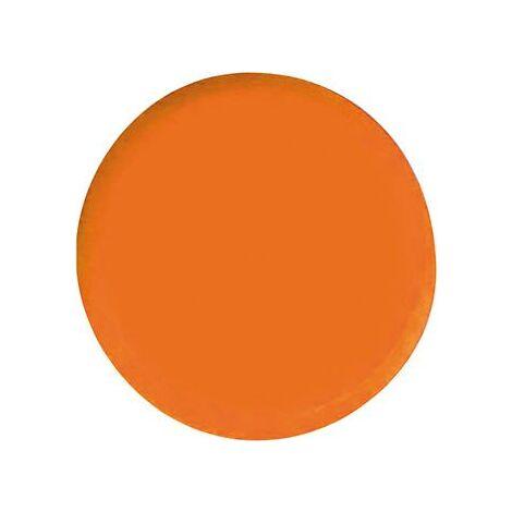 Aimant rond orange 20mm Eclipse 1 PCS