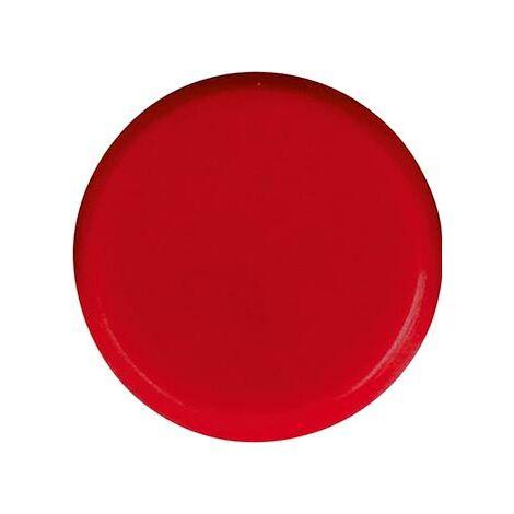 Aimant rond rouge 30mm Eclipse 1 PCS
