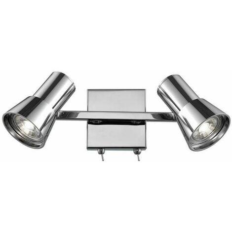 Aime Chrome Wall Light 2 Bulbs
