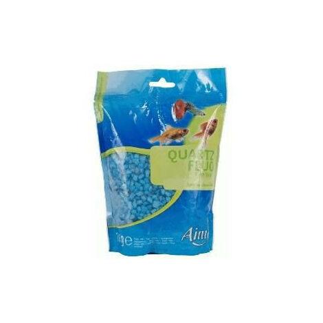 """main image of """"AIME Gravier fluo bleu - Pour aquarium - Sac de 1 kg"""""""