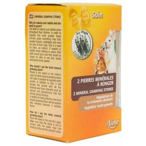 AIME Pierre minérale à ronger pour rongeurs 200G, Contient Minéraux, Calcium et Phosphore