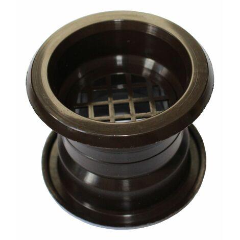 Air collier cercle Mini évent grille de ventilation de porte couvercle brun couleur 4pcs