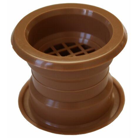 Air collier cercle Mini évent grille de ventilation de porte couvercle chêne 4pcs couleur