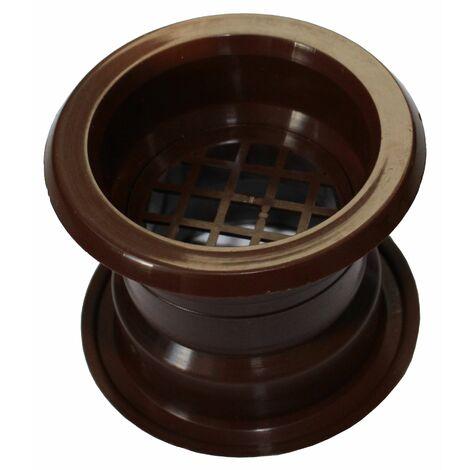 Air collier cercle Mini évent grille de ventilation de porte couvercle noyer 4pcs couleur