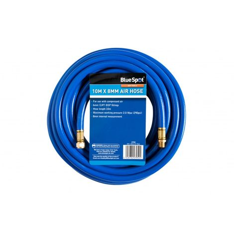 "Air Compressor Hose Air Line 10m x 8mm with 1/4"" BSP Fittings 290 PSI"