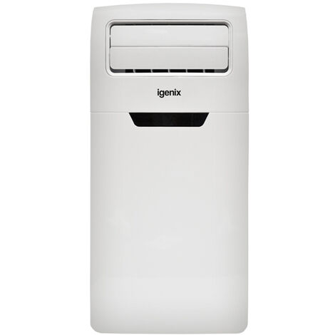 Igenix IG9906 4-in-1 Portable Air Conditioner with Cooling, Heating, Dehumidifier Function, 3 Fan Speeds with Sleep Mode, Remote Control and 24 Hour Programmable Timer, 12000 BTU, White�[Energy Class A]