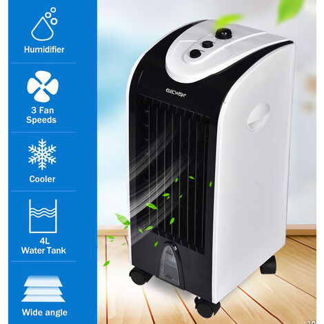"""main image of """"Air Cooler Portable Evaporative Fan Bladeless Quiet Electric Fan with Ice Crystal Box for Home Office Dormitory"""""""