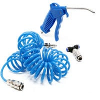 Air duster blow gun dust cleaning with 5 m recoil hose