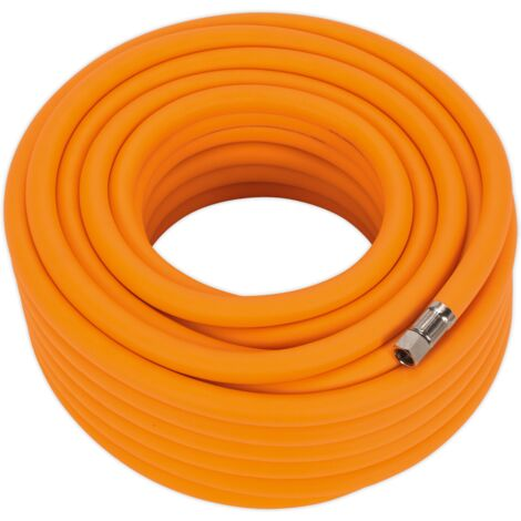 "Air Hose 20m x ??10mm Hybrid High Visibility with 1/4""BSP Unions"