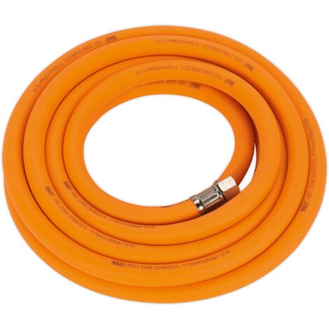 "Air Hose 5m x ??10mm Hybrid High Visibility with 1/4""BSP Unions"